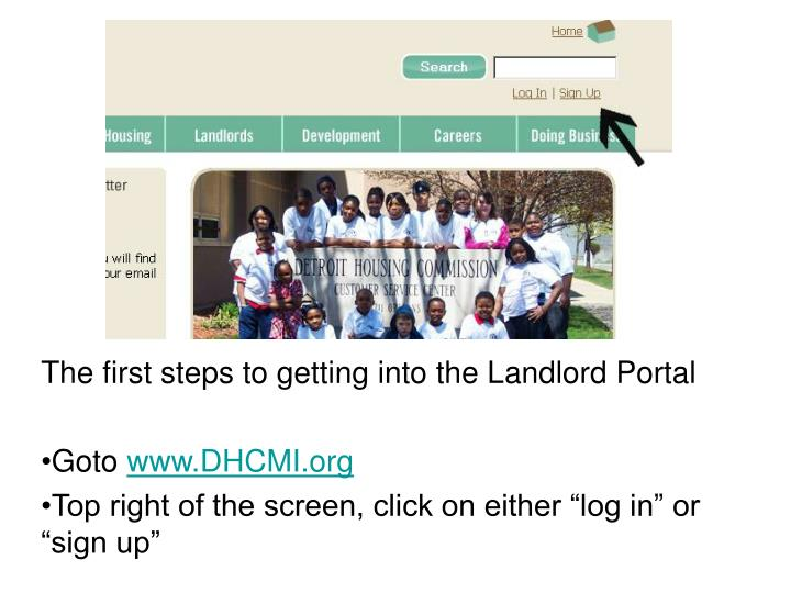 The first steps to getting into the Landlord Portal