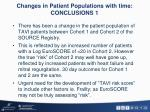 changes in patient populations with time conclusions 1