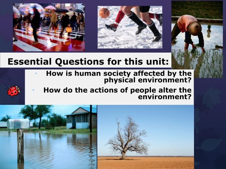 Essential Questions for this unit: