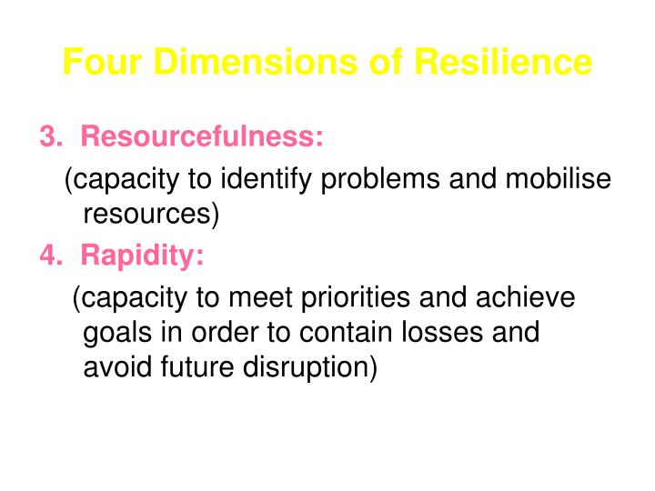 Four Dimensions of Resilience
