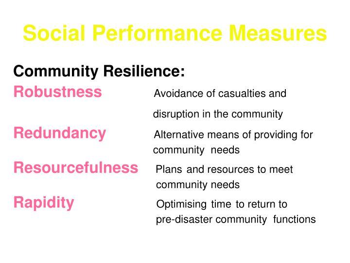 Social Performance Measures