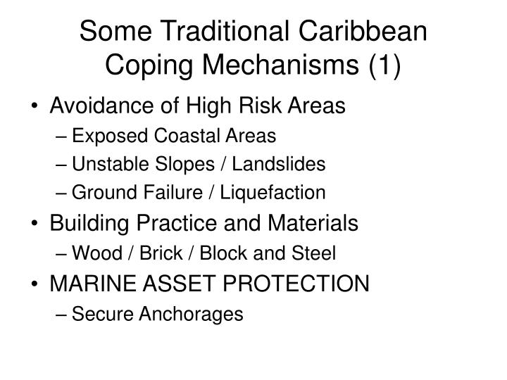 Some Traditional Caribbean Coping Mechanisms (1)