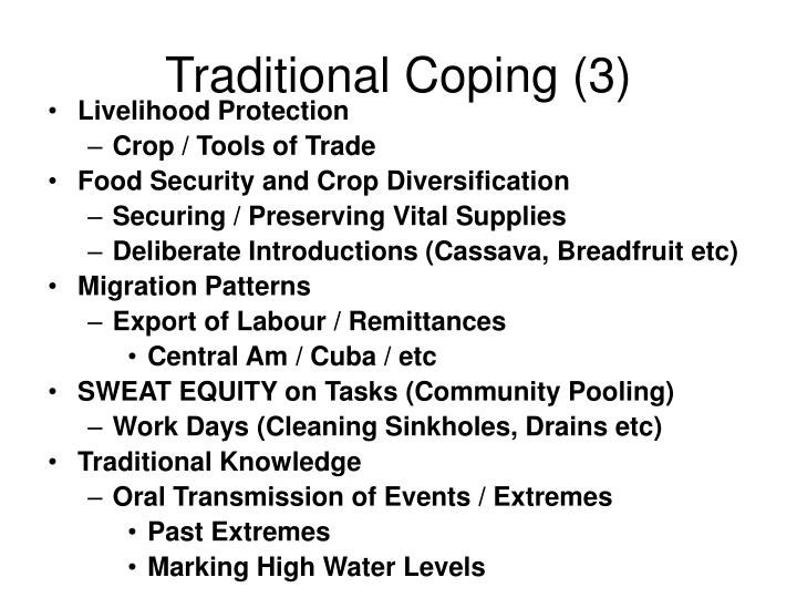 Traditional Coping (3)