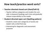 how teach practice word sorts