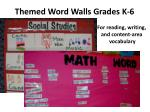 themed word walls grades k 6