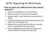wtw organizing for word study