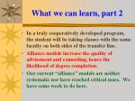what we can learn part 2
