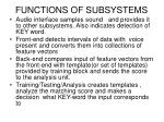 functions of subsystems