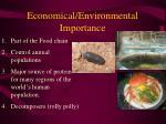 economical environmental importance