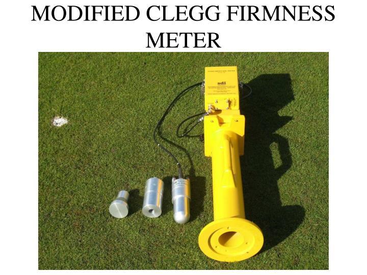 MODIFIED CLEGG FIRMNESS METER