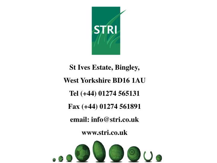 St Ives Estate, Bingley,