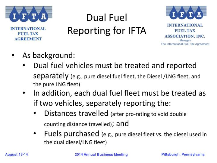 Dual Fuel Reporting for IFTA