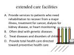 extended care facilities