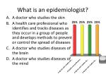 what is an epidemiologist