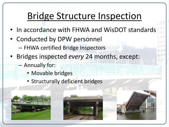 Bridge structure inspection