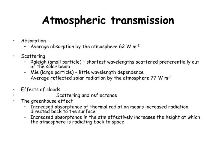 Atmospheric transmission