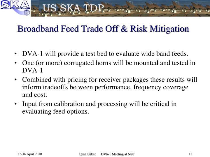 Broadband Feed Trade Off & Risk Mitigation