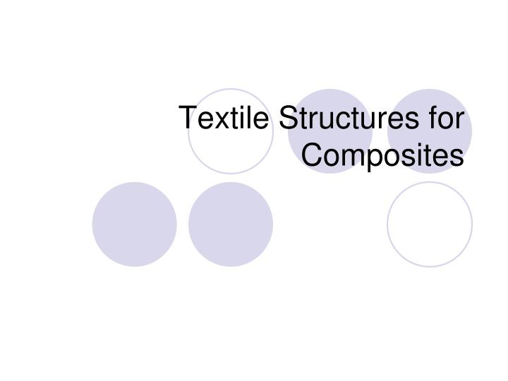 textile structures for composites n.