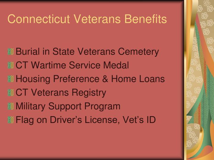 Connecticut Veterans Benefits