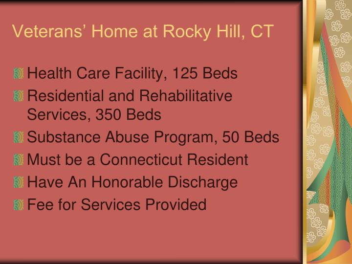 Veterans' Home at Rocky Hill, CT