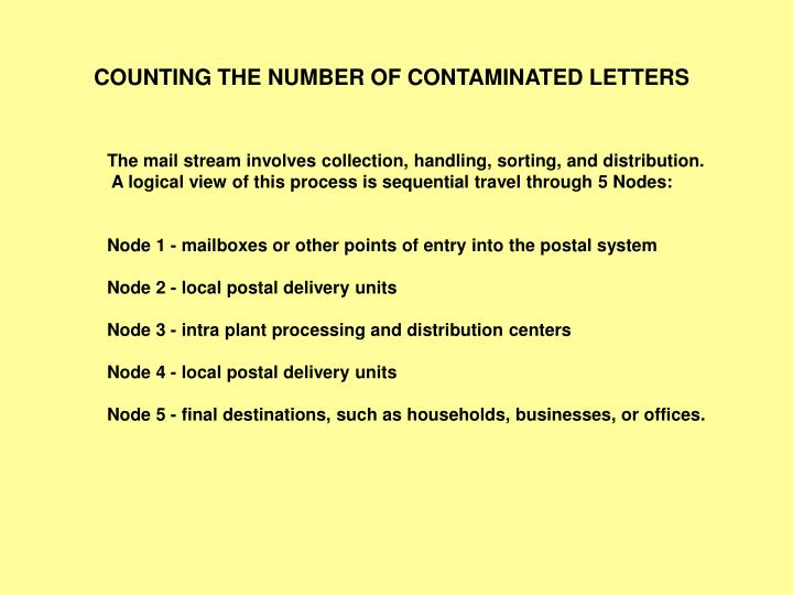 COUNTING THE NUMBER OF CONTAMINATED LETTERS