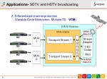 applications sdtv and hdtv broadcasting