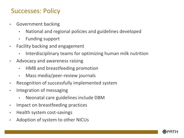 Successes policy
