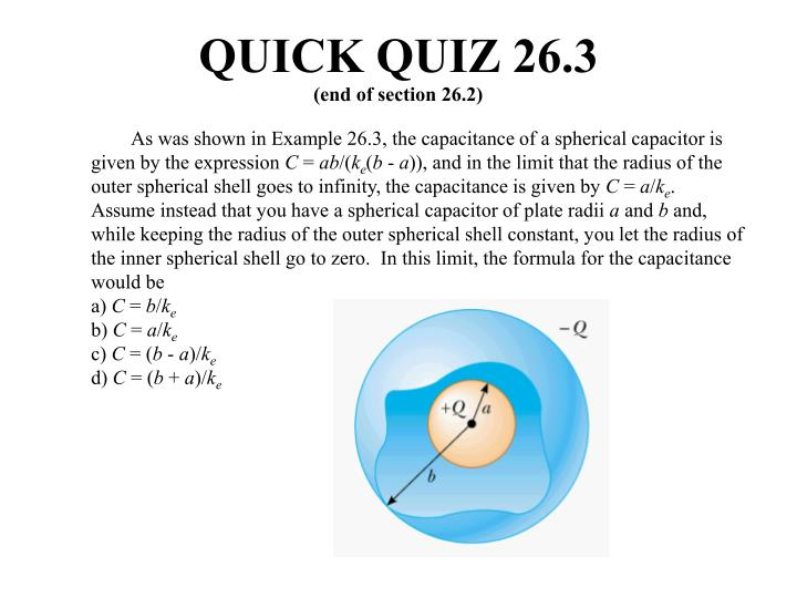 QUICK QUIZ 26.3