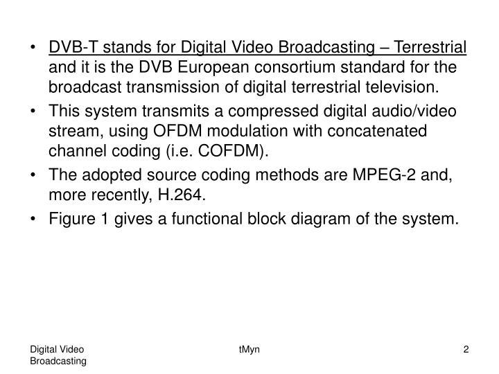 DVB-T stands for Digital Video Broadcasting – Terrestrial