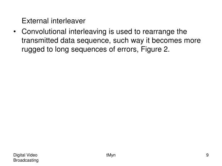 External interleaver