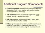 additional program components