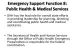 emergency support function 8 public health medical services