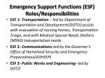 emergency support functions esf roles responsibilities