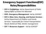emergency support functions esf roles responsibilities1