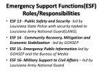 emergency support functions esf roles responsibilities3
