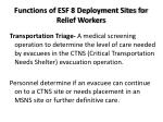functions of esf 8 deployment sites for relief workers1