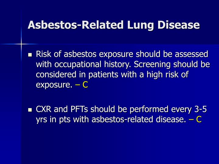 Asbestos-Related Lung Disease