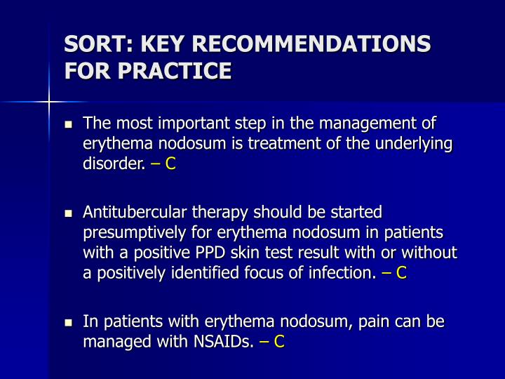 SORT: KEY RECOMMENDATIONS FOR PRACTICE
