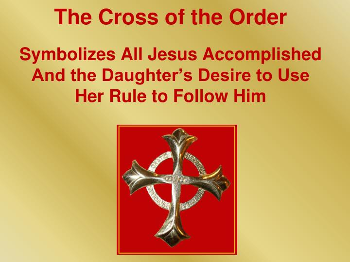 The Cross of the Order