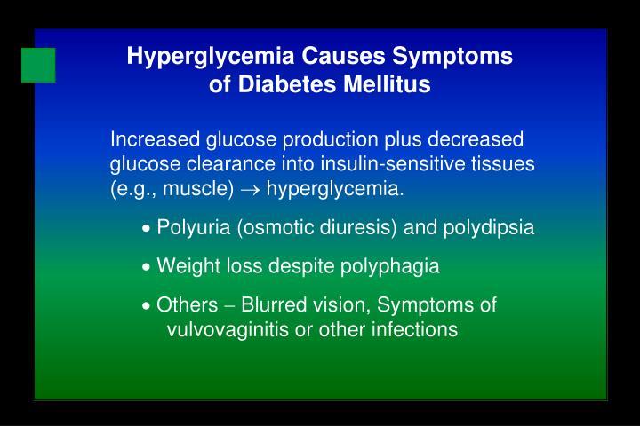 Increased glucose production plus decreased glucose clearance into insulin-sensitive tissues (e.g., muscle)