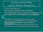 traditional self help and the dually diagnosed1