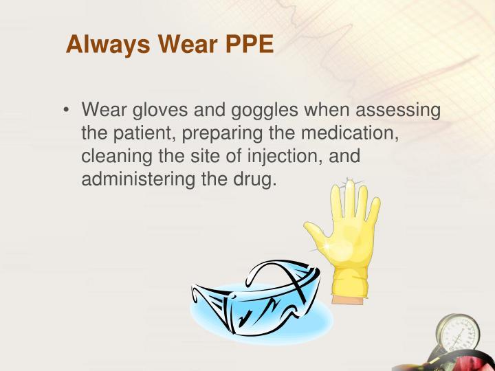 Always Wear PPE