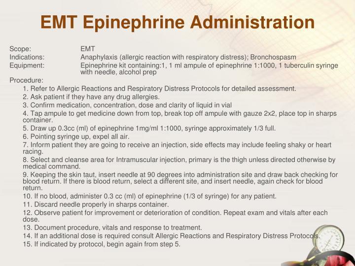 EMT Epinephrine Administration