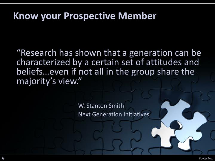 Know your Prospective Member