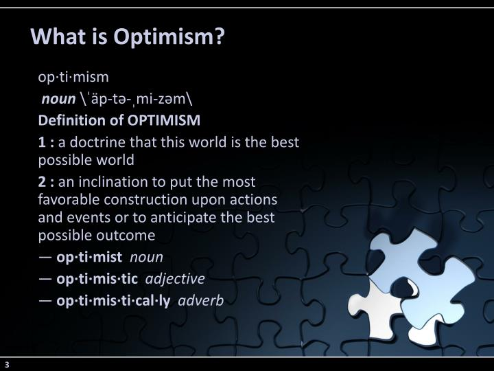 What is optimism