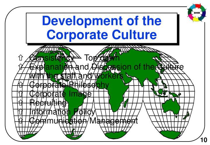 Development of the Corporate Culture