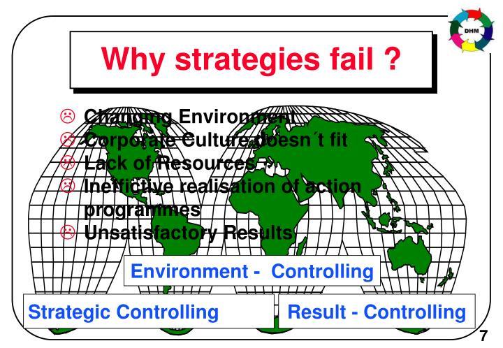 Why strategies fail ?