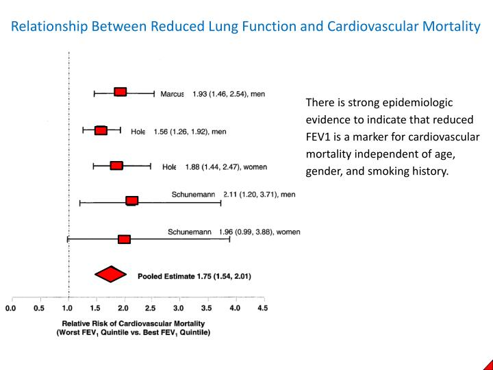 Relationship Between Reduced Lung Function and Cardiovascular Mortality