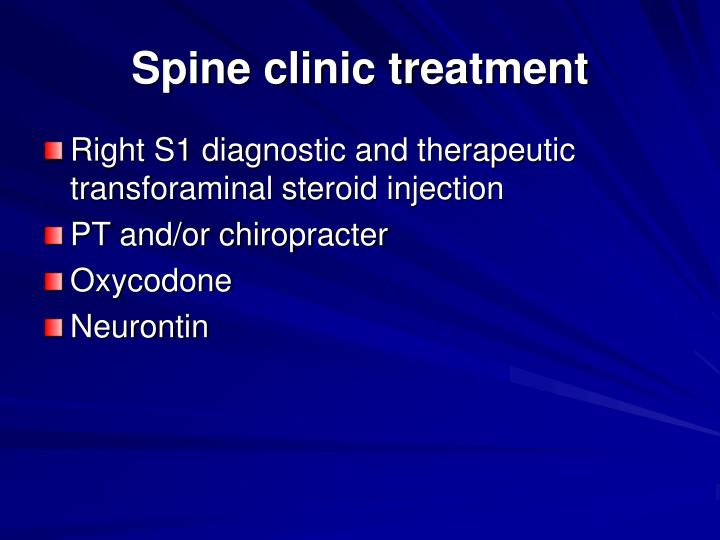 Spine clinic treatment
