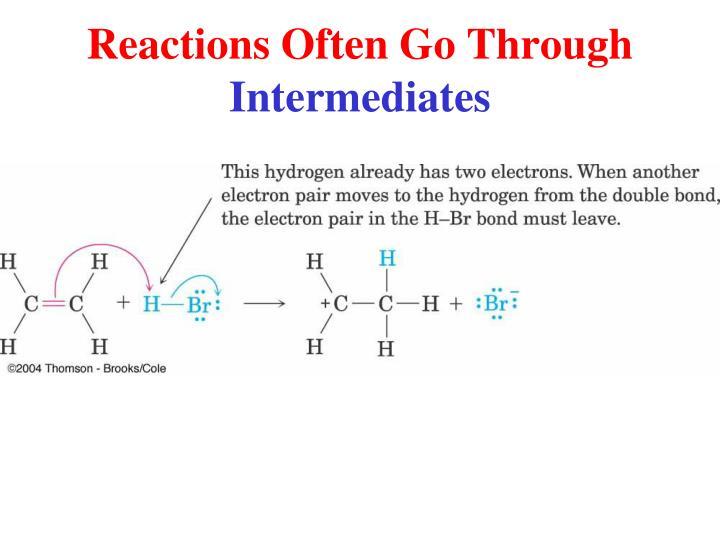 Reactions Often Go Through